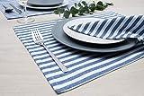 FILU Servietten 8er Pack Blau/Weiß gestreift (Farbe und Design wählbar) 45 x 45 cm – Stoffserviette aus 100% Baumwolle im skandinavischen Landhausstil - 6