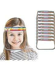 SB Components Kids Full Face beschermend schild kunststof transparant vizier met elastische band (10 Pack)