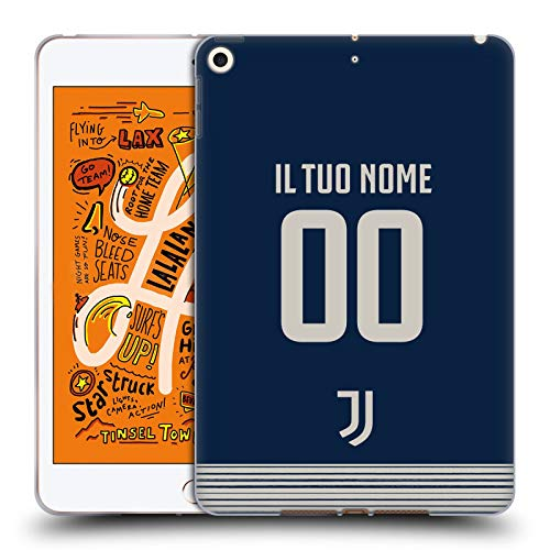 Custom Customised Personalised Juventus Football Club Away Soft Gel Case Compatible for Apple iPad mini (2019)