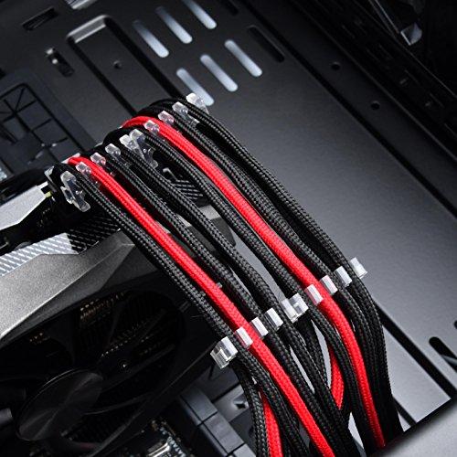 SilverStone SST-PP09 - Kabelkammset für ummantelte Netzteile, Polycarbonat (PC), zusammensetzbar