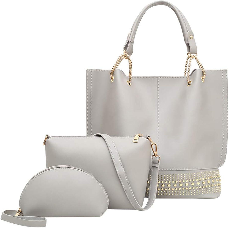 4050c7113622 Moonite Women 3PCs Hand Bag Gifts Zipper Shoulder Bag Clutch Purse ...