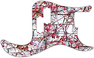 Custom Graphical Pickguard to fit Fender P Bass Precision Bass Pink Ivy