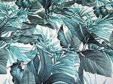 Minerva Crafts Trikot-Stoff, tropisch, Meterware, Blaugrün