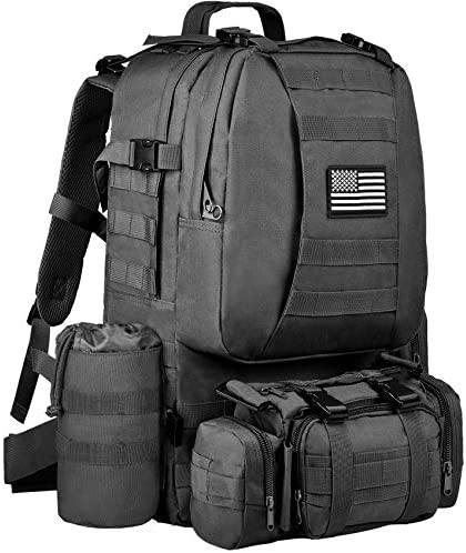 NOOLA Military Tactical Backpack Army Assault Pack Built up Rucksack Molle Bag Black product image