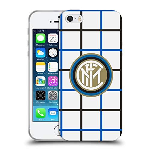 Head Case Designs Licenza Ufficiale Inter Milan Fuori Casa 2020/21 Kit Crest Cover in Morbido Gel Compatibile con Apple iPhone 5 / iPhone 5s / iPhone SE 2016