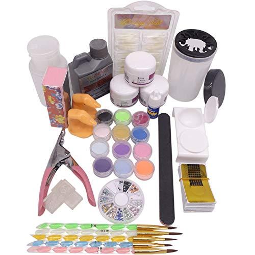 kit de uñas Kit Profesional Completa de para Uñas Acrílicas Decorar Arte Uña Manicura
