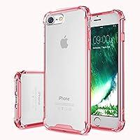 FIRST2SAVVV ピンク iPhone 7 iPhone 8 4.7 対応 透明 クリア ケース TPU シリコン ケース ソフトカバー 落下防止 エアバッグ - XJPJ-I7-4.7-B02