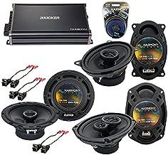 Compatible with Cadillac DeVille 1988-1989 OEM Speaker Upgrade Harmony Speakers & CXA300.4 Amp (Renewed)