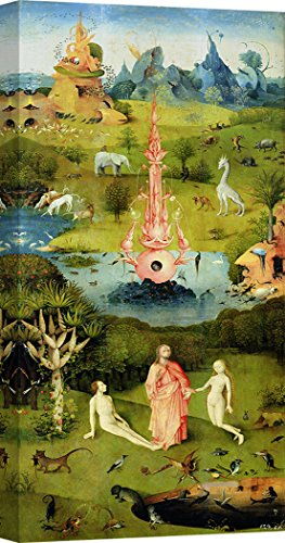 Art Print Cafe – Decoration Murale, Tableau de Hieronymus Bosch, The Garden of Earthly Delights I – Impression sur Toile 120x60 cm