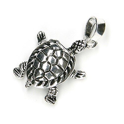 Schildkröte Schmuck Anhänger 925er Silber bewegliche Füße und Kopf, Länge mit Öse: 2,5cm