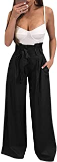 Best high waisted tie pants wide leg Reviews