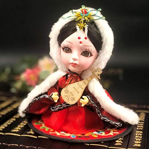 Esculturas Decoración Estilo chino Personajes de la Ópera de Pekín Facebook Souvenir Adornos de muñecas Estatua pintada a mano Wang Zhaojun Estatuilla Artesanía Decoración de estantería de 6 pulgadas