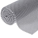 Muswanna Easy to Cut 78 x 20 Inch Non-Slip Shelf Liners, Grid Pattern