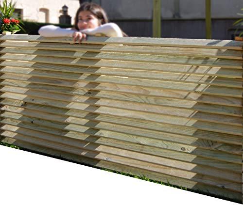 AD servicios Panel de Madera Separador para Vallas o techos, de Madera tratada 160x90 cm