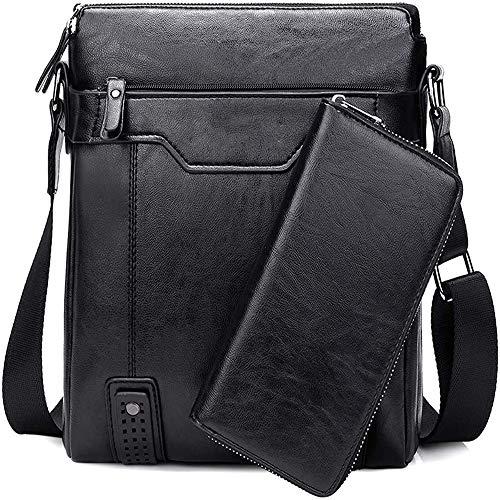 Herren Schultertasche Tasche Aus Leder,Für 9.7 Zoll Ipad Moderne Leder Schultertasche Für Männer Aktentasche Laptoptasche Bürotasche Businesstasche,F