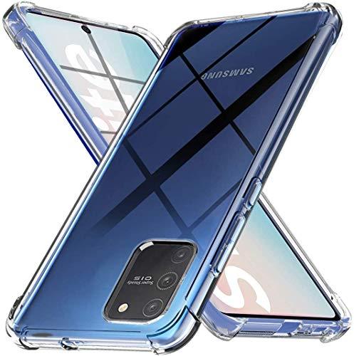Ferilinso Cover per Samsung Galaxy A91/ Galaxy S10 Lite Cover, [Rinforzare la Versione con Quattro Angoli] [Protezione per la Fotocamera] Custodia Protettiva in Silicone Morbido TPU (Trasparente)