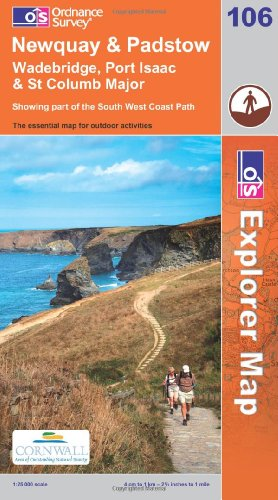 OS Explorer map 106 : Newquay & Padstow