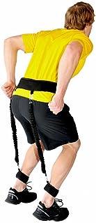 Justerbart vadderat hopp träningsbälte motstånd midjerem tränare benstyrka studs fitness tillbehör