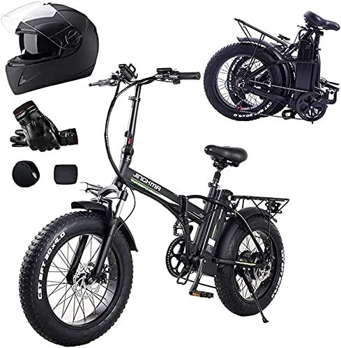 Bicicleta electrica Bicicleta eléctrica de neumático graso de 20 pulgadas 4.0, motor...