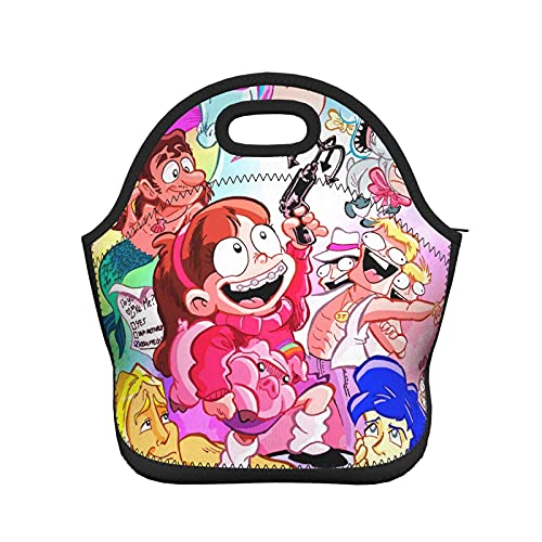 DJNGN G-ravity F-alls Lunch Bag Bolsas aisladas Moda para adultos y Bento Tote Box portátil para viajes Picnic Work