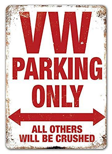 CHUNZO Vw Parking Only Blechschilder Wand Zeichen Kreativität personalisierte Metall Plaque Kunst Vintage Dekoration Blatt Handwerk hängen Poster Cafe Bar Garage