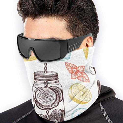 Braga Cuello Moto Calentador de Cuello Deporte Calentador Pasamontañas Polar Multifuncional Máscara Healthy Life Pattern Men