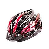 WANGSCANIS - Casco de bicicleta para adulto, ajustable, protección de montaña, ciclismo de carretera (negro y rojo, talla única)