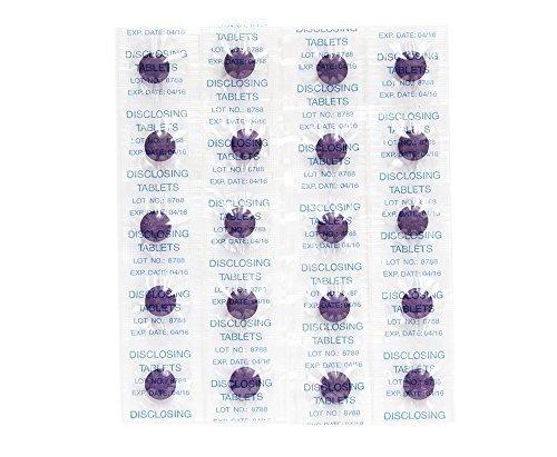 Plaquetest Tabletten ~ Set von 40 ~ Zweifarbig Plaqsearch Kaut Zeigt Plakette on Zähne