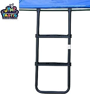 Kugo Sports Trampoline Ladder/Universal Trampoline Accessories/for Kids with 2 Wide Skid-Proof Steps/Black