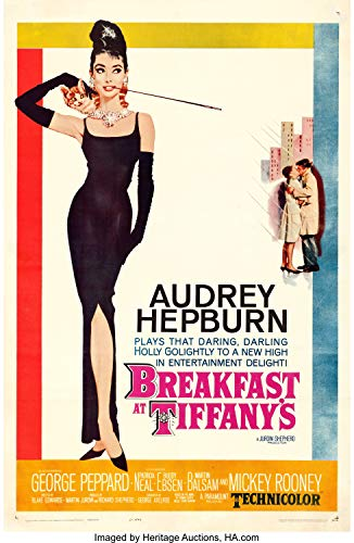 Sweetums Signatures America Breakfast at Tiffanys Audrey Hepburn Holly Golightly Romantic Comedy Movie Poster,12x18inch,30x46cm