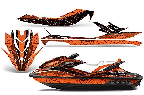AMR Racing Jet Ski Graphics kit Sticker Decal Compatible with Sea-Doo GTI SE130 2011-2019 - Geometrik Orange