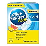 Alka-Seltzer Plus Alka-seltzer plus Non-drowsy Cold Citrus 36 Count effervescent Tablets, Citrus, 36 Count