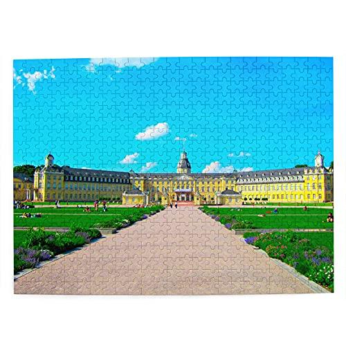 Deutschland Karlsruhe Palast Puzzle 500 Teile für Erwachsene Kinder Holz Reise Geschenk Souvenir 51,8 x 38,1 cm (FX02417)