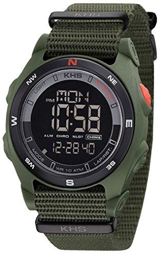 KHS Chronograph Sentinel DC Natoband Oliv SEDCO.NO