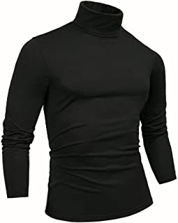 THWEI Mens Turtleneck Mock Turtleneck Slim Fit Long Sleeve Pullover Sweater