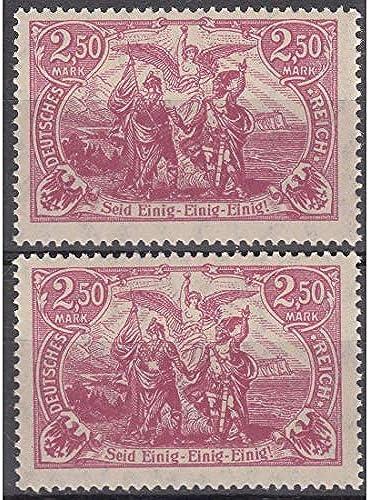 Goldhahn Deutsches Reich Nr. 115I und 115 II postfrisch  Plattenfehler Briefmarken für Sammler