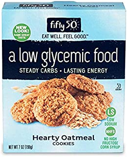 Fifty50 Foods Low Carb, Low Glycemic, Hearty Oatmeal Cookies, 7 Ounce