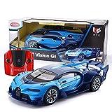 Ycco Todo terreno Super Grande Bugatti RC Car, Escala 1/12 Bugatti Veyron Grand 39.5cm Deporte Vitesse Radio Control remoto Modelo Toy Car Boy Girls Cumpleaños Juguete for niños Regalo, azul