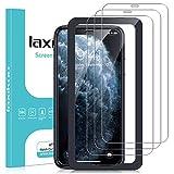 laxikoo 3 Stück Panzerglas für iPhone 11 Pro Max, iPhone XS Max Schutzfolie, 9H Festigkeit Bildschirmschutzfolie mit Positionierhilfe Blasenfrei HD Klar Bildschirmschutz für iPhone 11 Pro Max/XS Max - 6.5 Zoll