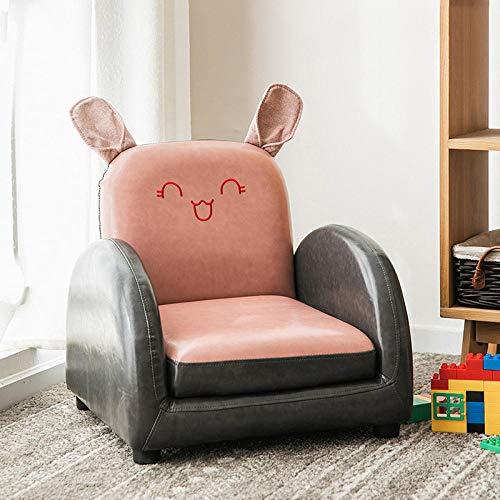 Asiento del sofá para niños Dibujos Animados niño niña Princesa bebé bebé Aprender a Sentarse en el Asiento del sofá Lindo Tatami de Lectura-Rosa PU Conejo sofá reclinable