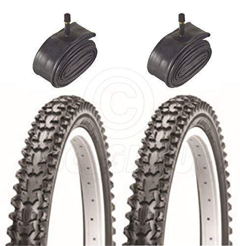 Vancom 2 Bicycle Tyres Bike Tires - BMX/Mountain Bike - 20 x 2.125 - & Schrader Tube