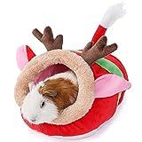 JanYoo Ferret Bed Ferret Supplies House Hide Ferret Cage Accessories (S,Reindeer)