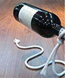Magic Lasso Rope Wine Bottle Holder Floating Illusion Rope Rack Stand, White (white)