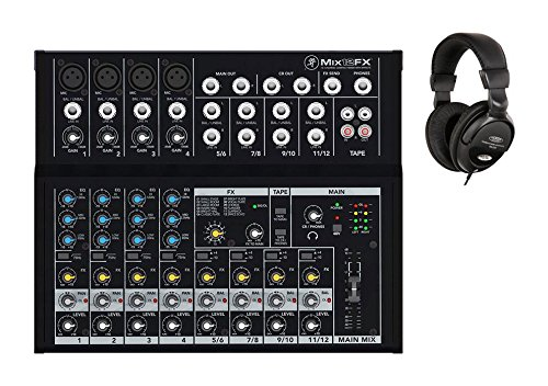 Mackie Mix12FX Set (4 Mic Eingänge, inkl. Classic Cantabile Kopfhörer)