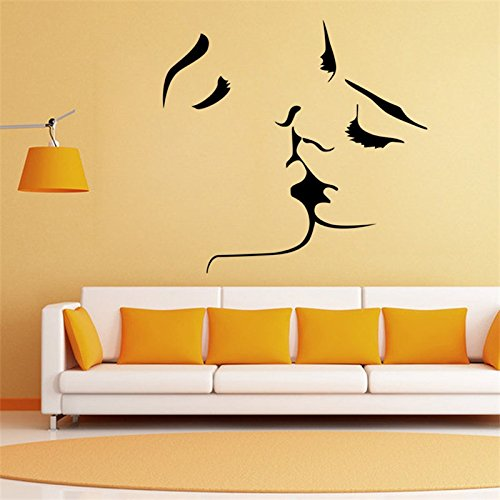 Carved wall stickers personalized Creative Kiss DIY Wall Stickers Vinyl Living Room Background Home Decor Mural Decal Kiss