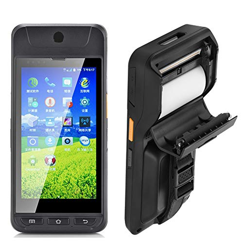 HiDON 5inchAndroid POS with Barcode Scanner with 4G Network WIFI BT and Camera POS Thermal Receipt Printer with Finger Barcode Scanner