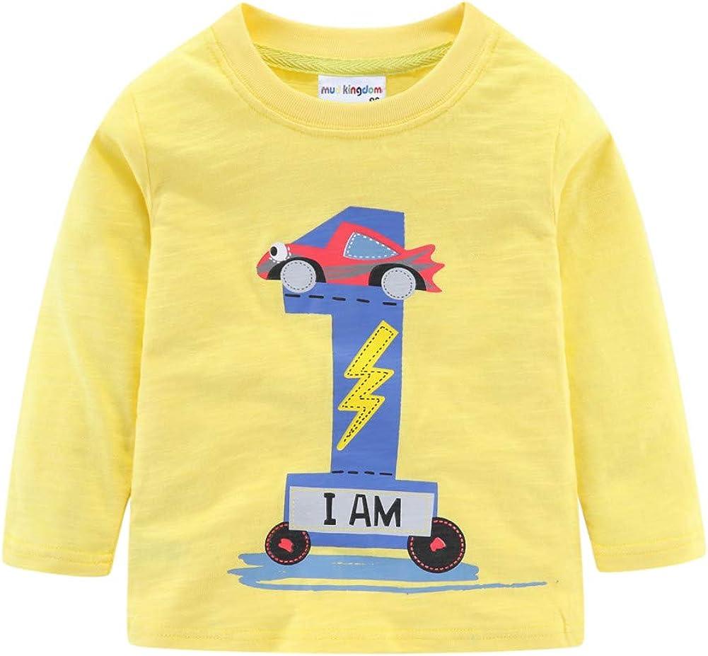 Mud Kingdom Little Girls Birthday Shirt Long Sleeve Cute Cartoon