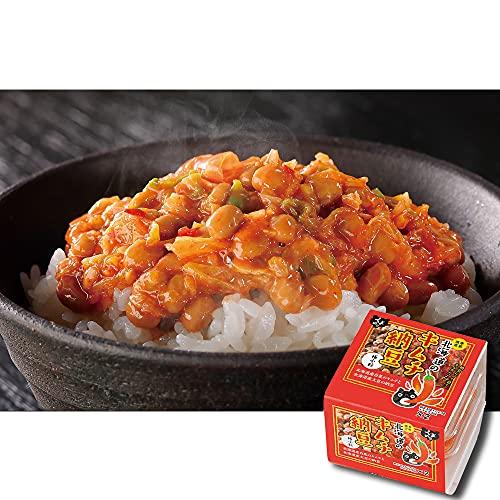 【くま納豆】北海道のキムチ納豆 6個(1個2パック入り)ごはんのお供 冷凍保存可能