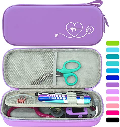 ButterFox Premium Stethoscope Case with Divider and ID Slot for 3M Littmann Classic III, Cardiology IV Diagnostic and More Stethoscopes with Pocket for Nurse Accessories (Lavender)