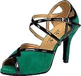 Zapatos de baile para mujer, estilo moderno, cuadrados, estilo latino, color Verde, talla 38 EU